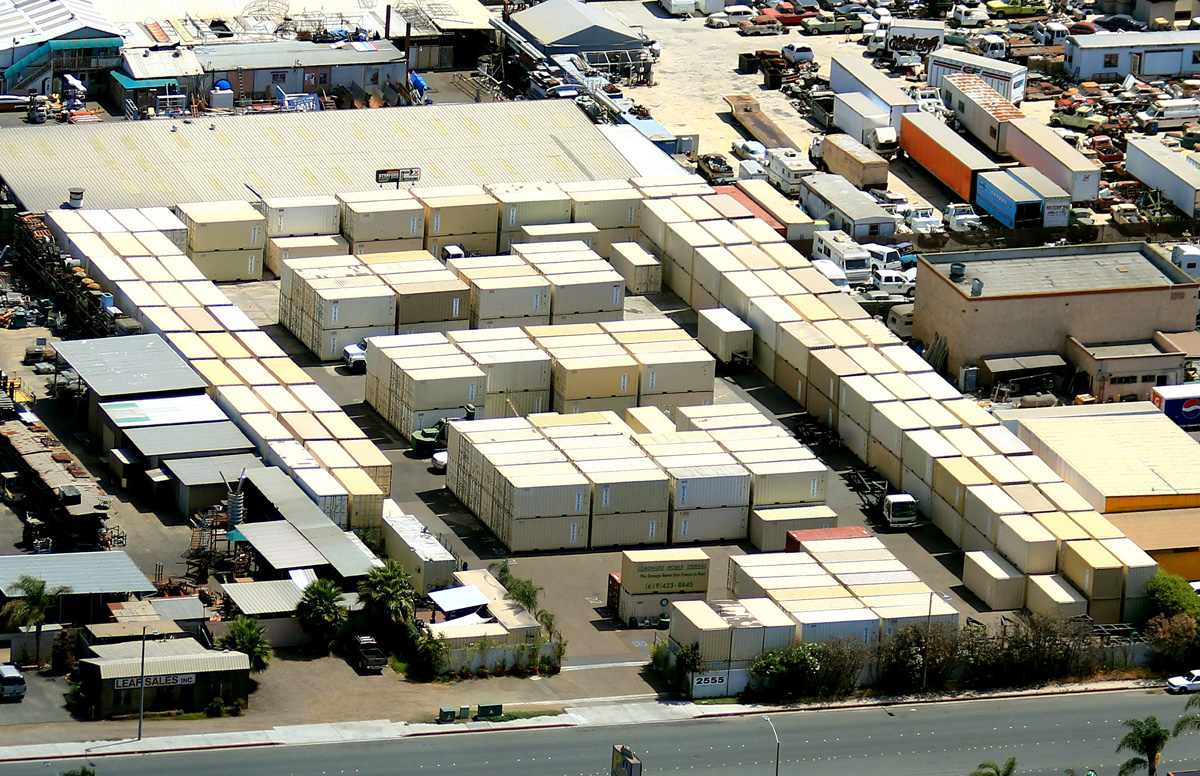 Aerial view of Coronado Mobile Storage in San Diego, California