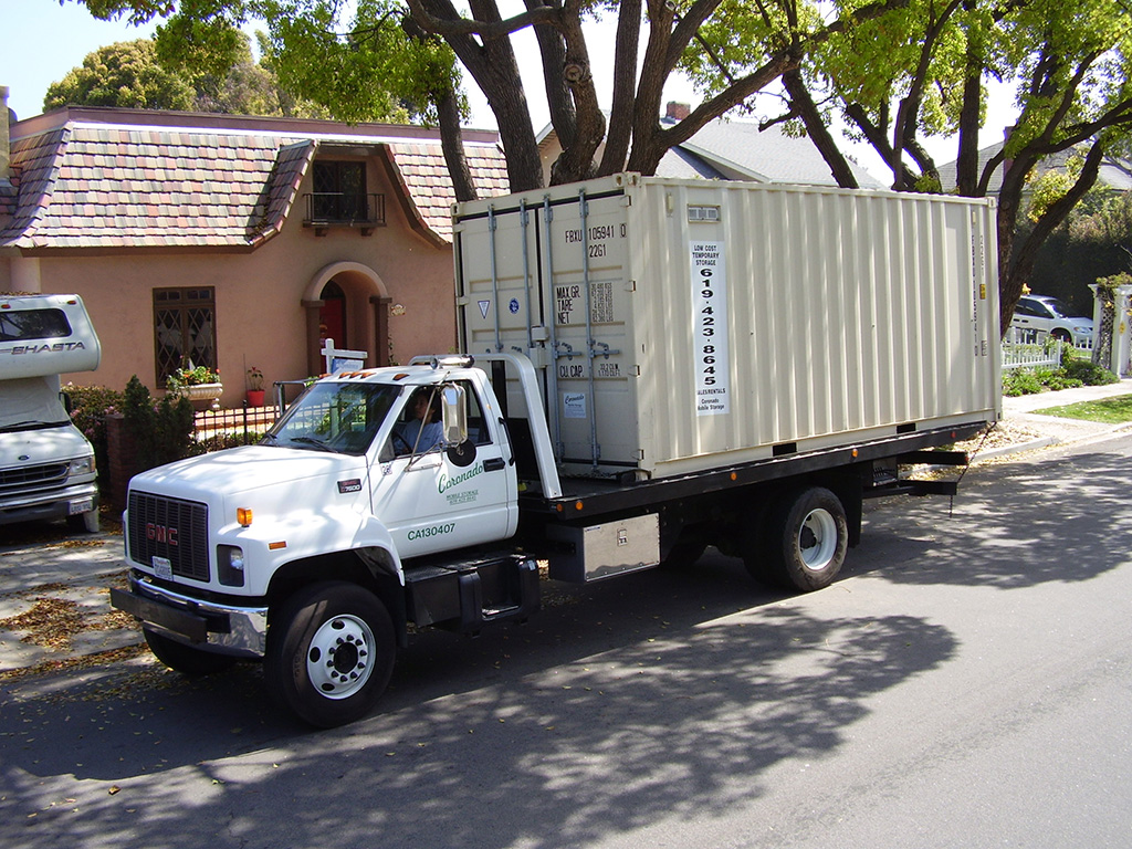 A Coronado Mobile Storage mobile storage moving truck
