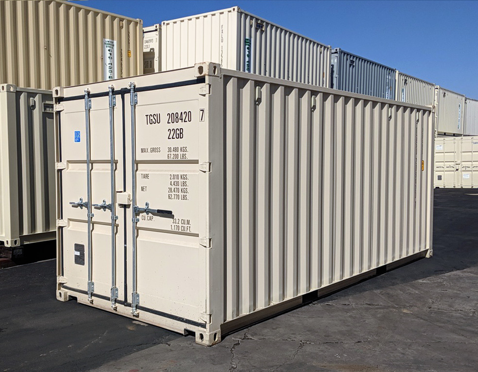 Photo of a shipping container for sale
